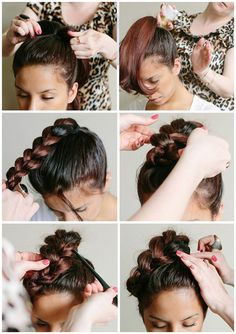 easy braided ponytail updo with clip on best human hair extension for short hair 2014