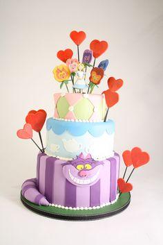 cupcak, alic cake, cake idea, cake design, alice in wonderland, citi cake, charm citi, wonderland cake, birthday cakes