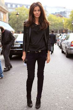 Barbara Martelo, stylist, at Paris Fashion Week paris city street, fashion weeks, paris fashion, motorcycl, barbara martelo, winter style, street style, healthy hair, black