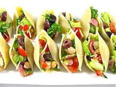 chopped salads, low calories, stuf shell, italian chop, stuffed shells, salad stuf, pasta, appetizers, chop salad