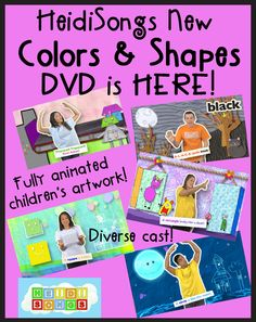 HeidiSongs New Colors and Shapes DVD is HERE!