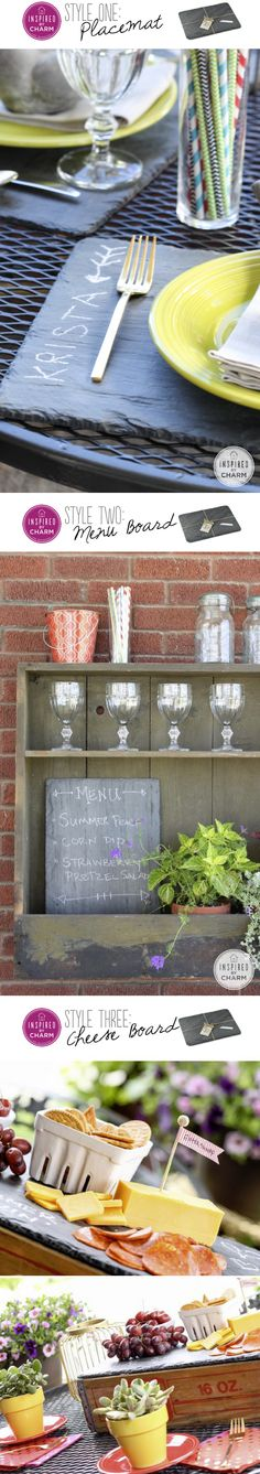 using a slate boards three ways | inspired by charm