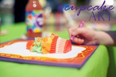 cupcake wrappers, art birthday, cupcake art, art tips, cupcak art, art activities, kid crafts, art projects, craft rooms
