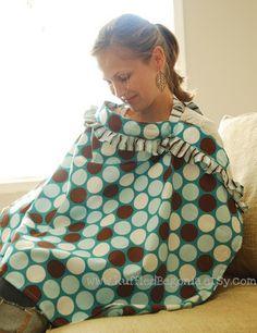ruffled breastfeeding nursing cover up