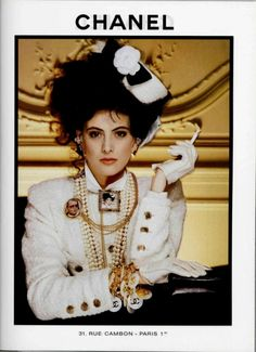 Ines De La Fressange Chanel s/s 1986