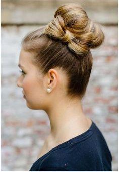 bun + hair bow diy hairstyles, bun hairstyles, hair updos hair buns bows, bow bun, hair bowbun, beauti, hair style, hair bows, holiday hairstyl