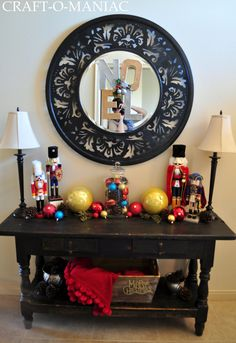 Craft-O-Maniac: Noel Pottery Barn Knockoff and My Christmas Entry Way