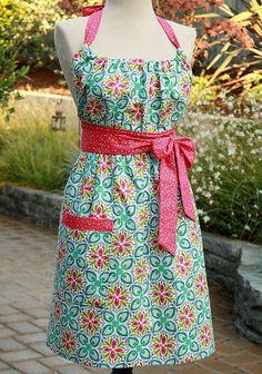 super cute apron using Kate Spain's Terrain - no tutorial