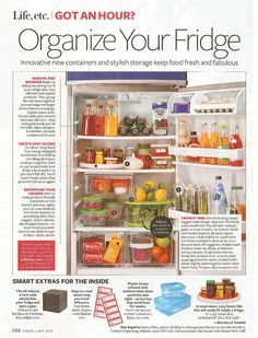 Organize your fridge in an hour.