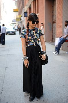Woman on the street from stylelist.com
