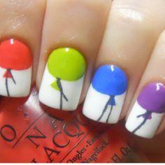 Balloon nail art.