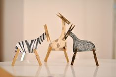 make clothespin animals for wild animal or zoo play