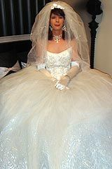 Super tulle wedding dress, perfect for a cross dressing bride