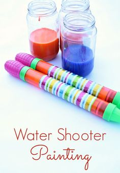 Water Shooting Painting--Fun, active process art for kids