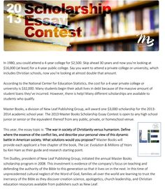 college scholarship essay contest 2012