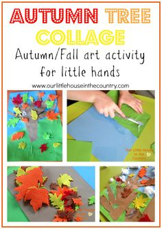 Autumn Tree Collage - Fall Art Activities for Kids - Our Little House in the Country #autumn #fall #kidsactivities