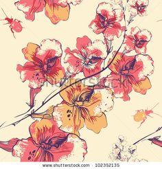 springtim flower, pattern, remov wallpap, wallpapers, flowers, color wallpap, flower remov, decor idea, flower wallpap
