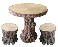 Woodland Tree Table & Stump Stools Set