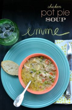 Love chicken pot pie, but never have time to make it?  You're in for a treat with this chicken pot pie soup recipe that combines everything you love in pot pie into a big pot of soup! via lifeingrace