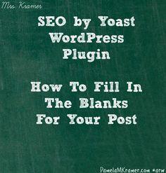 Using SEO by Yoast Plugin for Wordpress