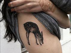deer #rib #tattoos