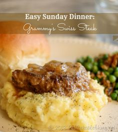 Easy Sunday Dinner Kids will Love- Grammys Swiss Steak at ReMarkable Home