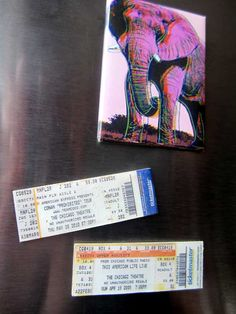 Concert Ticket Magnets - Turn concert tickets into keepsakes with this simple craft idea. This is also a great gift idea!