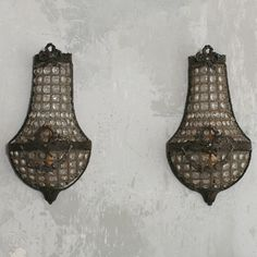 Eloquence Beaded Small Sconces Set of 2 @LaylaGrayce