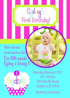 Sweet Shoppe Birthday Invitation CUSTOM to any color by ktozdesign, $10.00