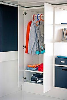 Chambre enfant on pinterest teenage bedrooms storage - Armoire enfant blanche ...