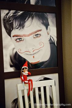 Elf on the shelf - being a little naughty