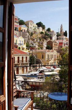 A view from a balcony - Symi Island, Greece   by © Ath76