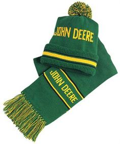 John Deere Frayed Knit Scarf