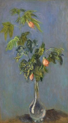 Flowers in a Vase, 1882. Claude Monet