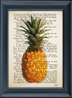 Kitchen decor Pineapple Print