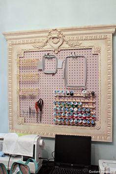Organizing a craft room.