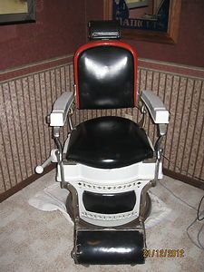 ANTIQUE KOKEN BARBER CHAIR-EARLY 1900'S
