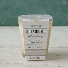 Old Fashioned Cocktail Candle