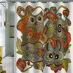 Owls Shower Curtain.