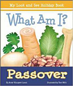 """For young children, a lift-the-page look at what makes Passover special. From matzah to Elijah's chair, this is a sure hit for little ones as they guess """"What Am I?"""" and lift the page to find out!"""