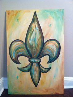 Fleur de Lis Painting Acrylic