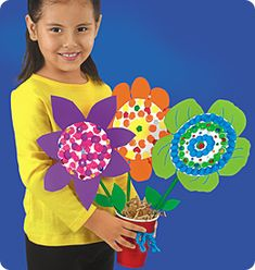 Squish Preschool Ideas: May-Flower Crafts may flowers crafts, flower preschool crafts, mayflow craft, flower crafts preschool, paper flowers, daisi, flower power, mothers day crafts, kid