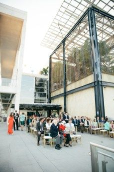 Walking down the aisle with a view of Charleston Harbor aquarium event