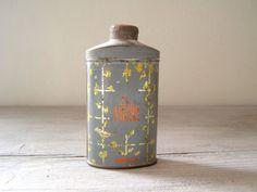 Antique Talc powder tin