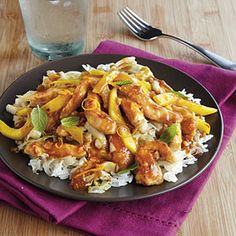 Pork and Mango Stir-Fry.  Will have to give this one a try!