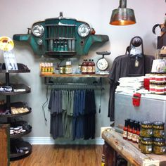 Our man cave in our boutique! Pretty dang cool!