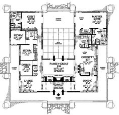 Houseplans.com Contemporary Main Floor Plan Plan #72-179