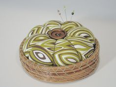 Pine Needle Pin Cushion Basket by LongleafStudio on Etsy, $30.00