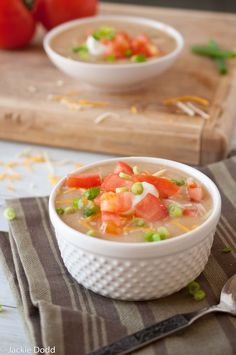 Skinny Baked Potato Soup 210 Calories