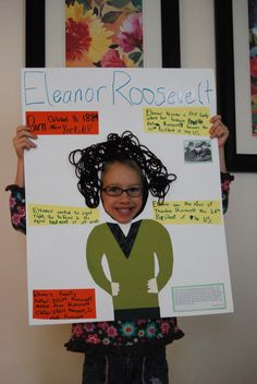 Biography Poster- cute idea!